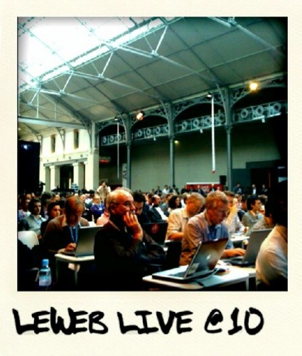 sitting among my fellow LeWeb bloggers