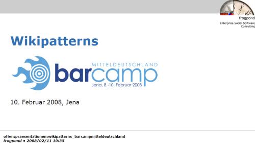 Wikipatterns _ BarCampJena